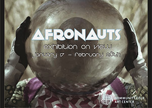 Afronauts Exhibit postcard