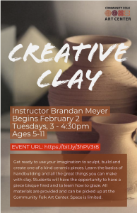 Creative Clay flyer