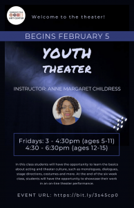 Youth Theater flyer