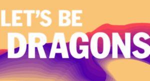 Let's be dragon postcard